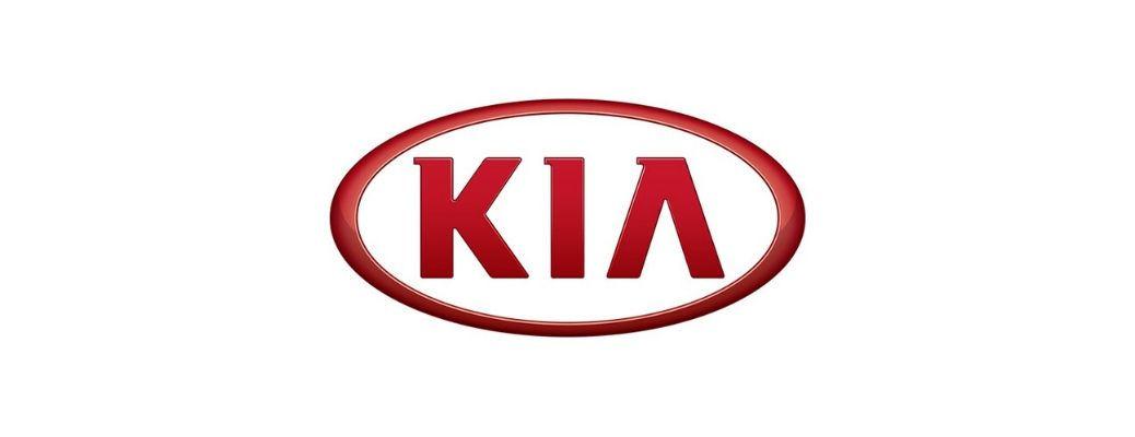 Red Kia logo against a white background