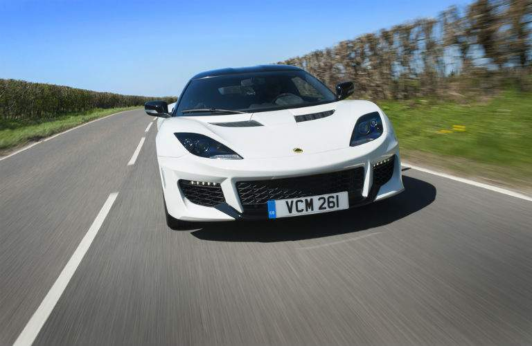 2018 lotus evora 400 front view driving