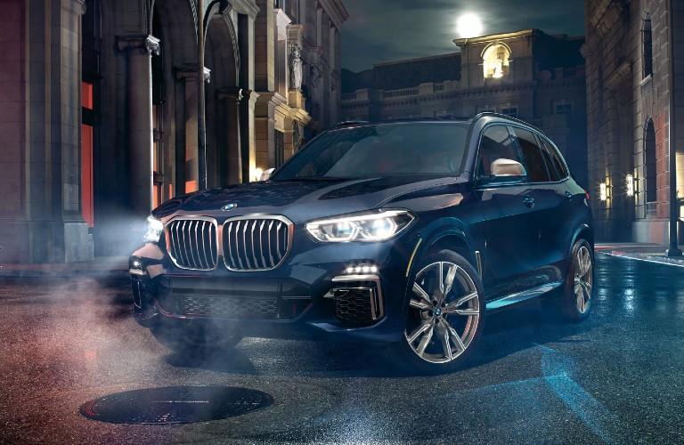 2020 BMW X5 parked in the city