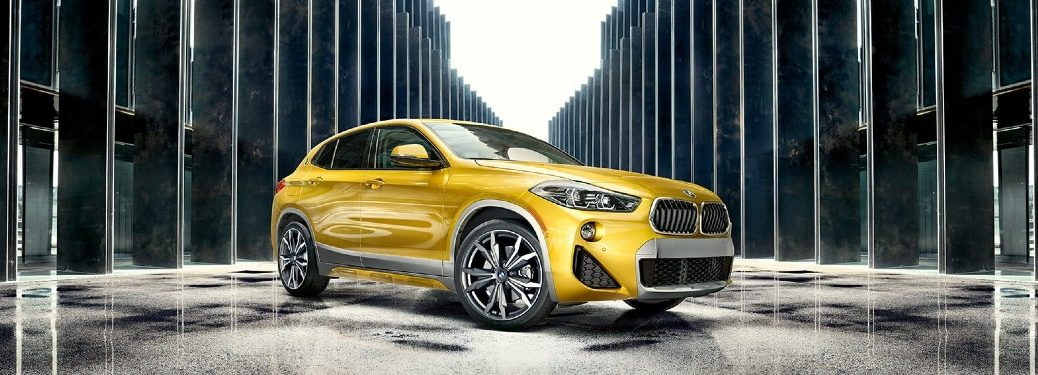 yellow 2020 BMW X2