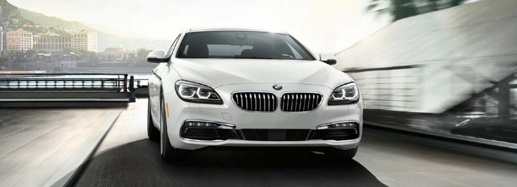 front view of the white 2018 BMW 6series
