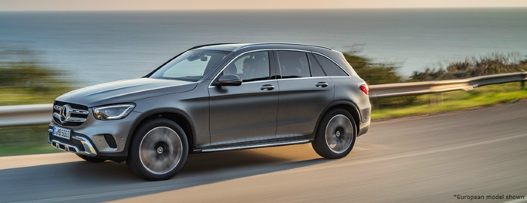 2020 Mercedes-Benz GLC driving down highway