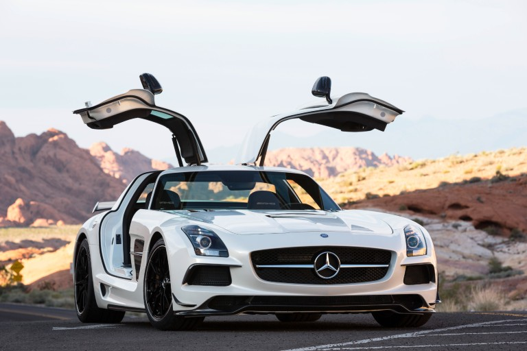 Mercedes-Benz black series with doors open