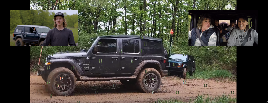 screen grabs from Jeep video series