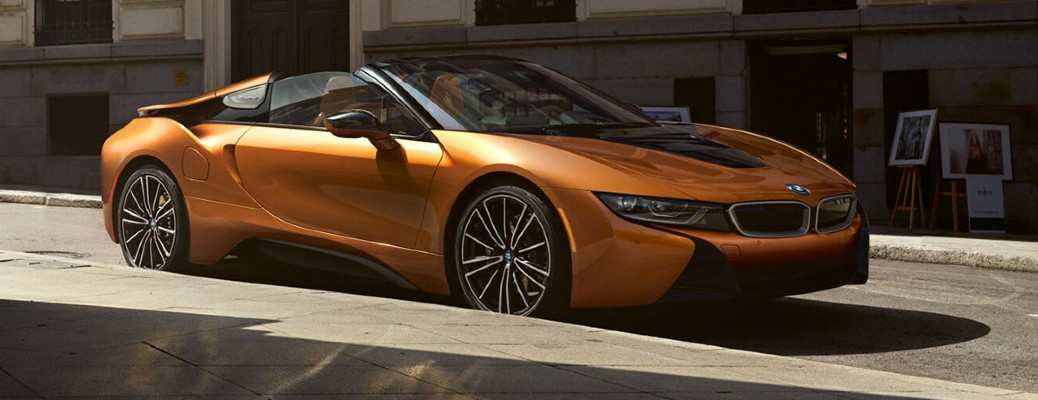 2019 BMW i8 parked on the side of the road