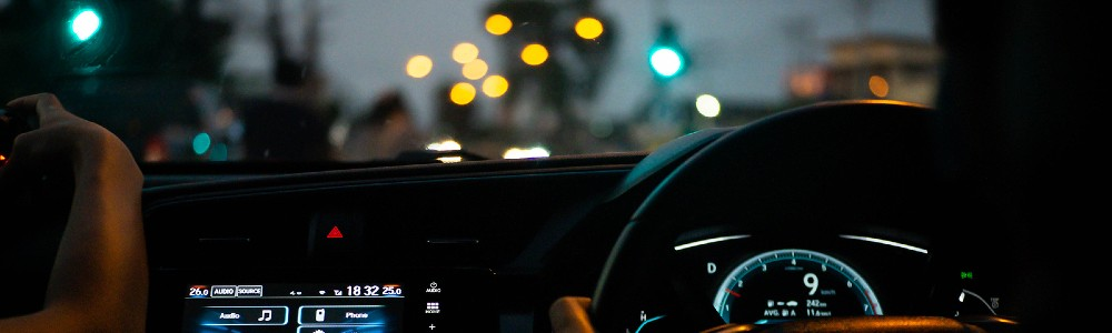 dashboard lit up in vehicle