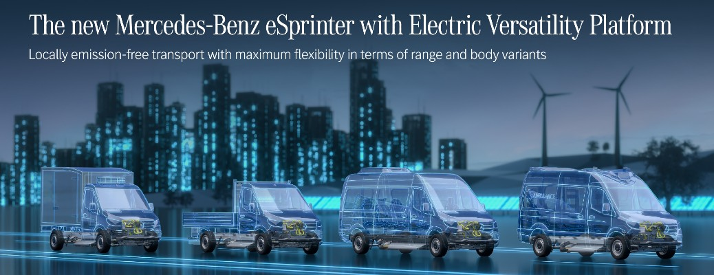 Here is a look at the Mercedes-Benz next-generation eSprinter