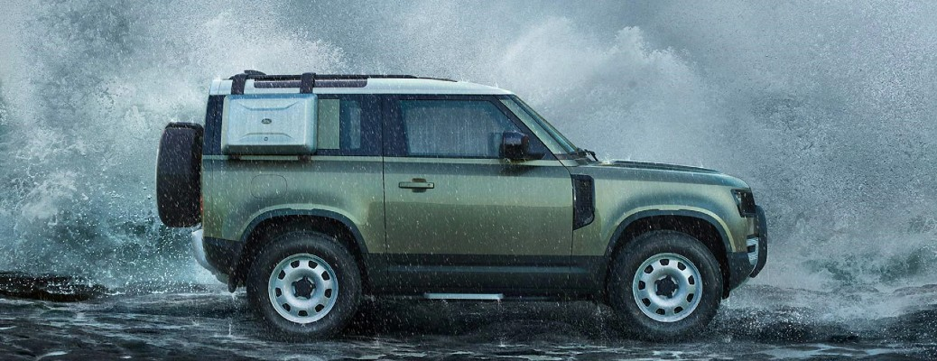 side view of the 2021 Land Rover Defender