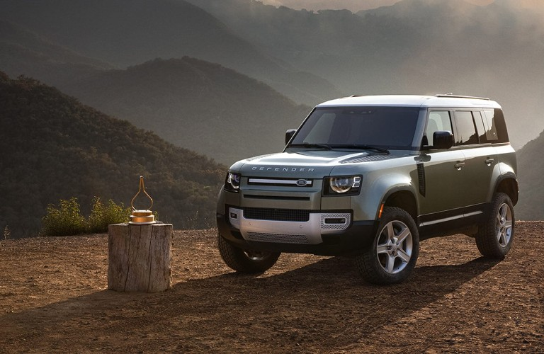 front view of the 2021 Land Rover Defender
