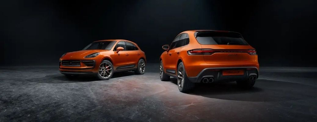 Two 2022 Porsche Macan S parked side by side