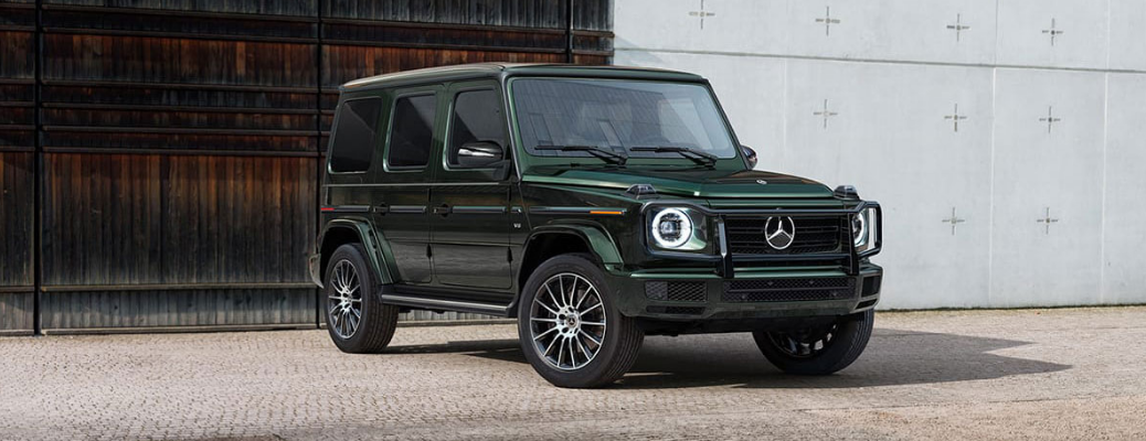 2021 Mercede Benz G-Class in front of a building