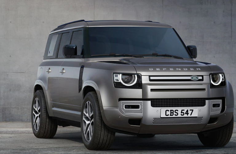 Land Rover Defender showcased in the picture