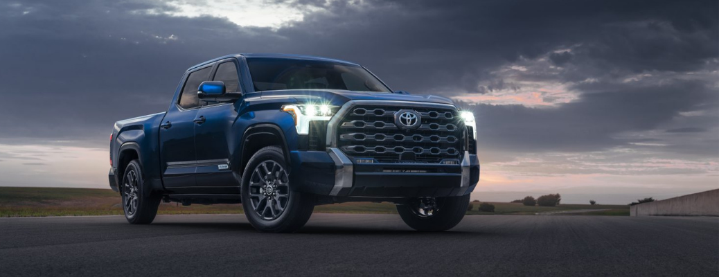 2022 Toyota Tundra standing in plain surface under cloudy sky