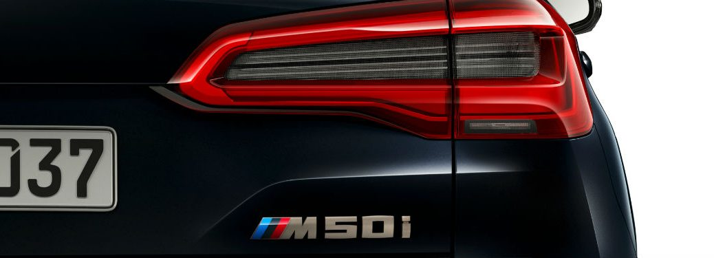 rear logo on a 2020 BMW X5