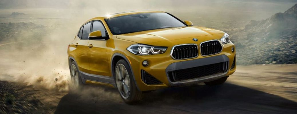 2020 BMW X2 driving on the road
