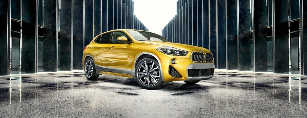 2020 BMW X2 parked on a path inside
