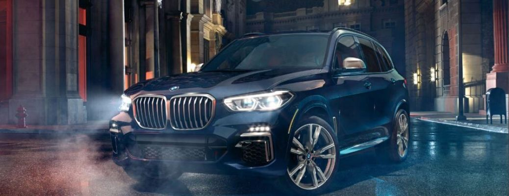 2020 BMW X5 parked on the road
