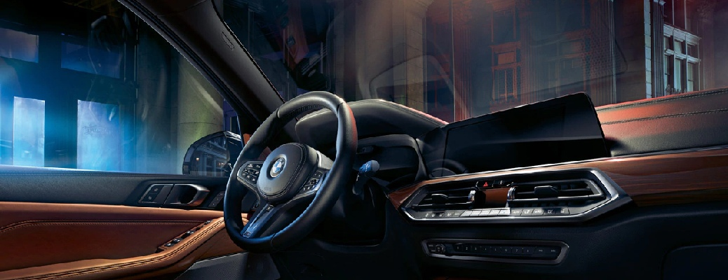 Interior front region of a 2020 BMW X5