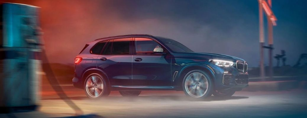 2021 BMW X5 on the road