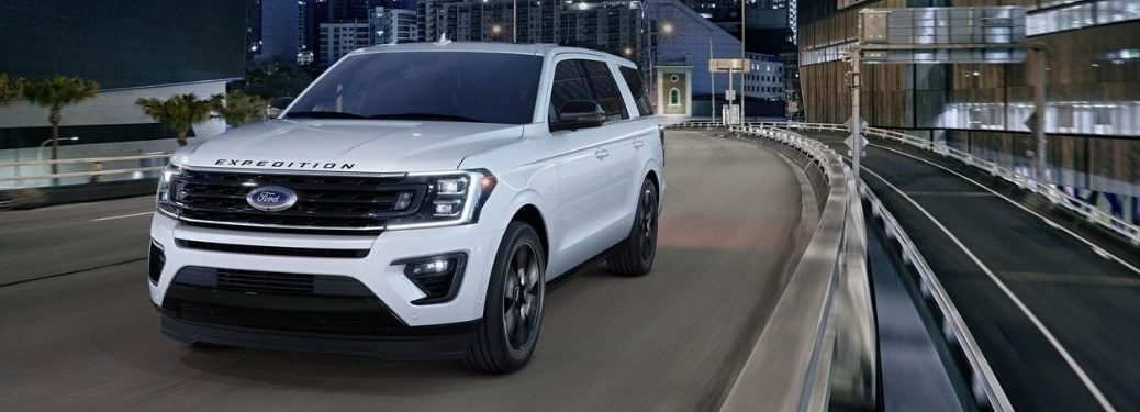 2020 Ford Expedition on highway at night
