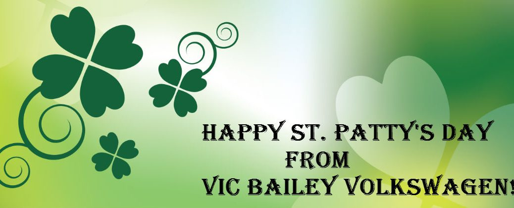 2016 St. Patrick's Day Events Spartanburg SC at Vic Bailey Volkswagen-Happy St. Patty's Day Shamrock Banner