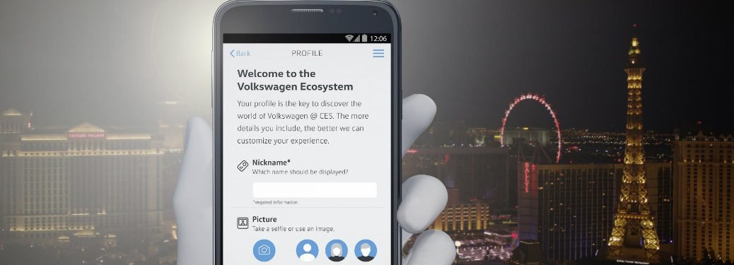 What is the VW CES 2017 App