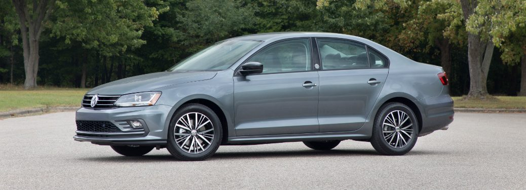 2018 volkswagen jetta wolfsburg edition in parking lot surrounded by trees