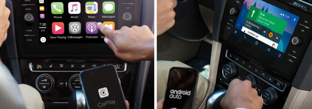 Android Auto™ and Apple CarPlay™ now available in Volkswagen models thanks to new VW Car-Net® mobile app
