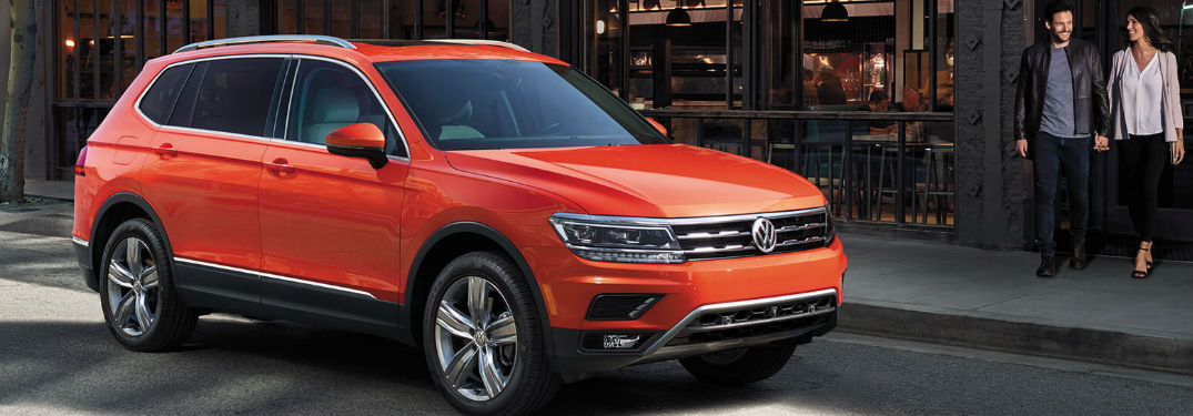 Innovative technology features and luxurious comfort options fill interior of new 2019 Volkswagen Tiguan crossover SUV
