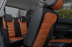Second- and third-row seats of a 2019 Volkswagen Tiguan