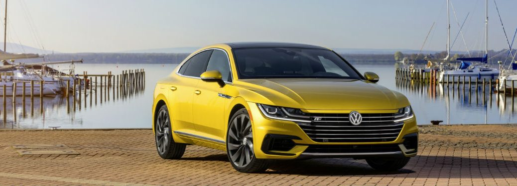 2019 Volkswagen Arteon parked showing front profile
