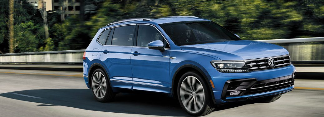 2020 Volkswagen Tiguan driving on a road