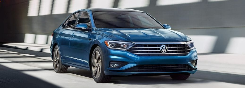 front-side-view-of-blue-2020-Volkswagen-Jetta