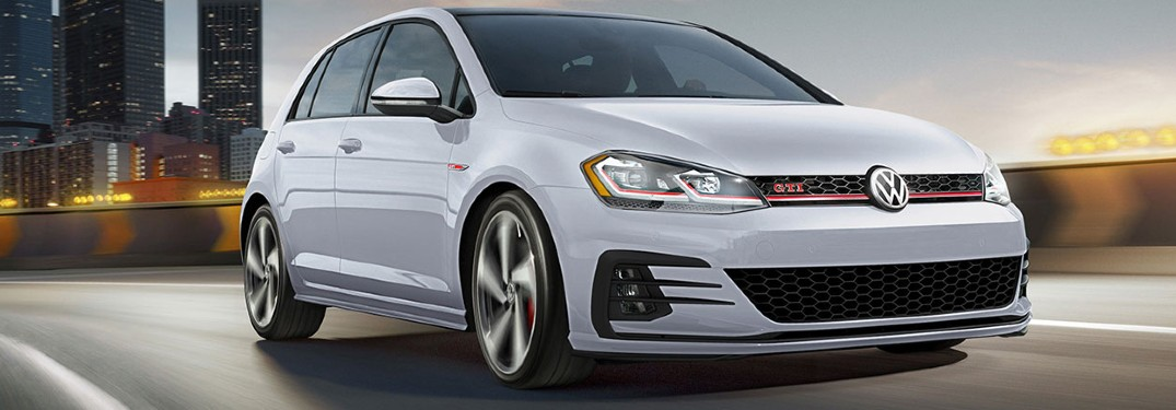 2020 Volkswagen Golf GTI hatchback available in 5 exterior paint color options