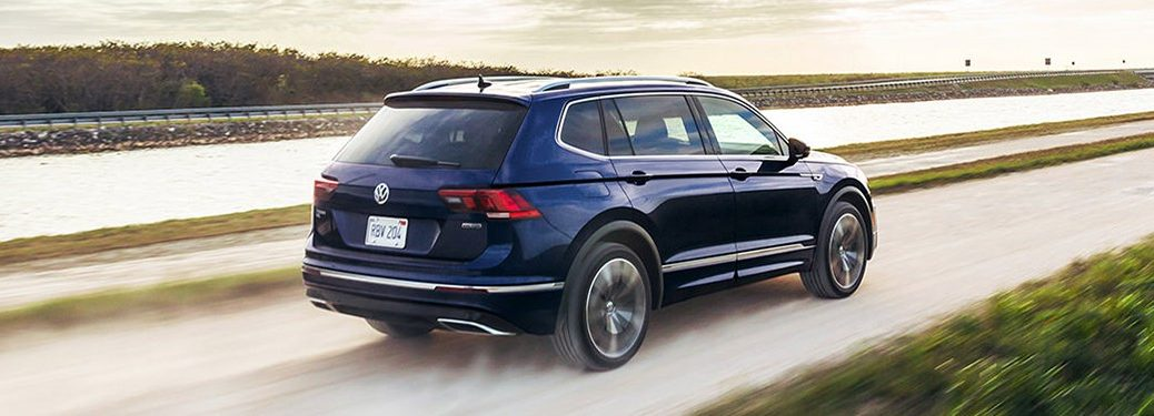 2021 Volkswagen Tiguan driving on a road