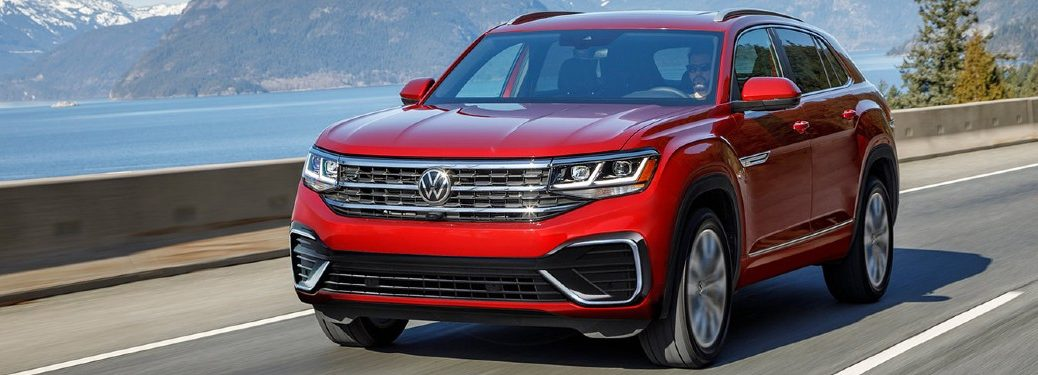 2021 Volkswagen Atlas Cross Sport driving on a road