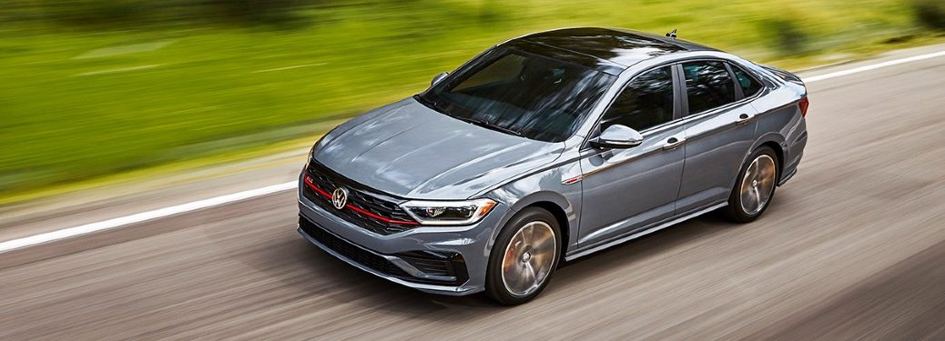 2021 Volkswagen Jetta GLI driving on a road