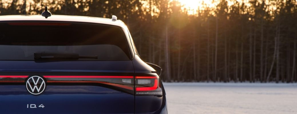 back view of the 2021 VW ID.4 at sunset