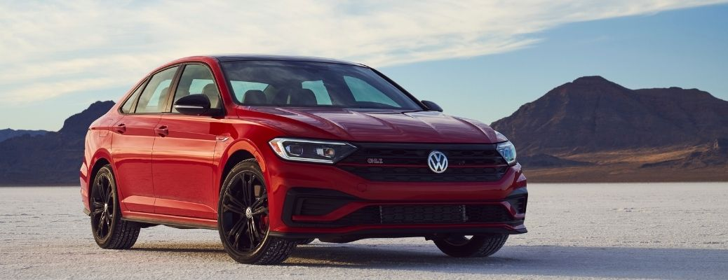 front and side view of the 2021 Jetta GLI