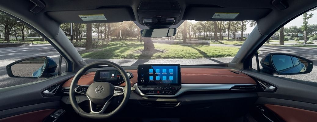 dashboard view of the 2021 VW ID.4