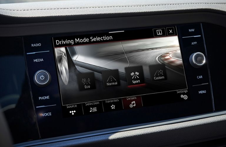 available driving modes in the 2021 VW Jetta