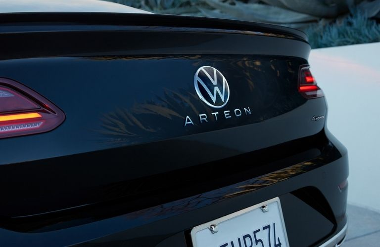 LED taillights with VW logo at the back of the 2021 VW Arteon