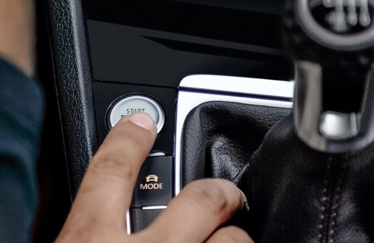 available push-button start in the 2021 VW Golf GTI
