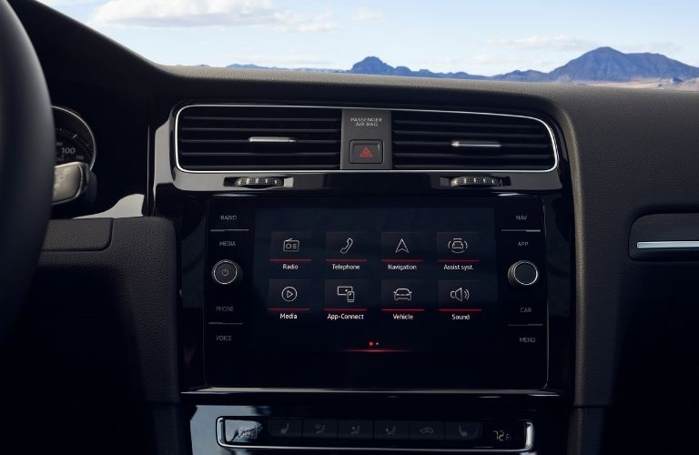 infotainment system of the 2021 VW Golf GTI