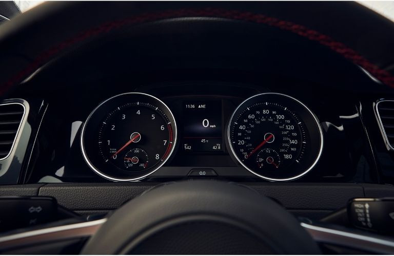 instrument cluster of the 2021 VW Golf GTI
