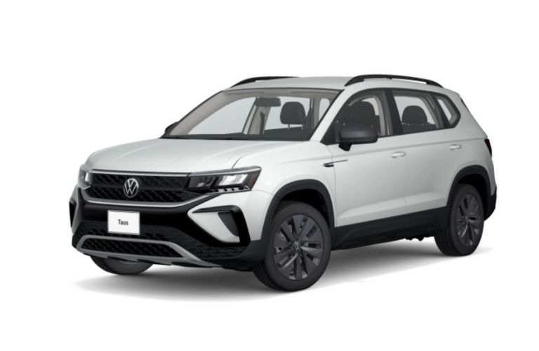 front quarter view of the 2022 VW Taos
