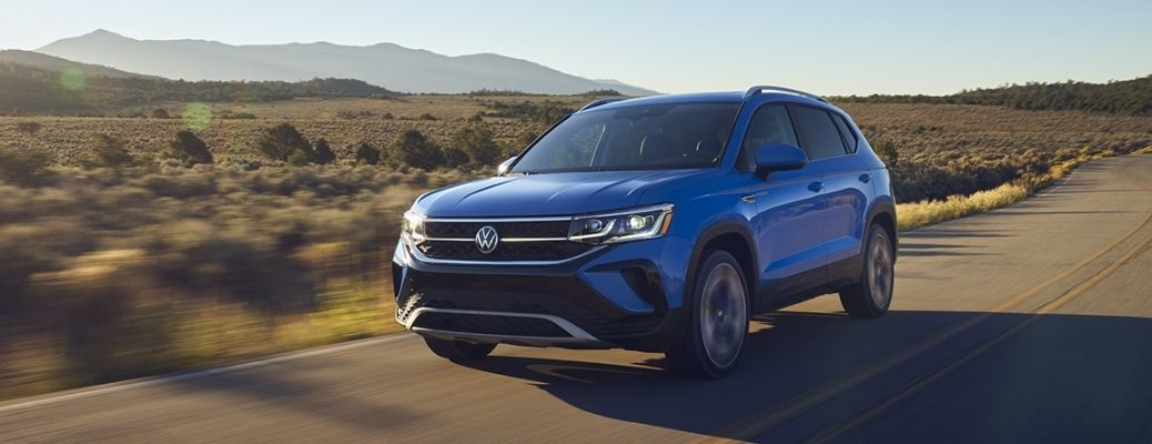 front and quarter view of the 2022 VW Taos
