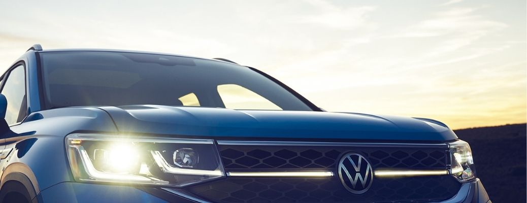 front headlight view of the 2022 VW Taos