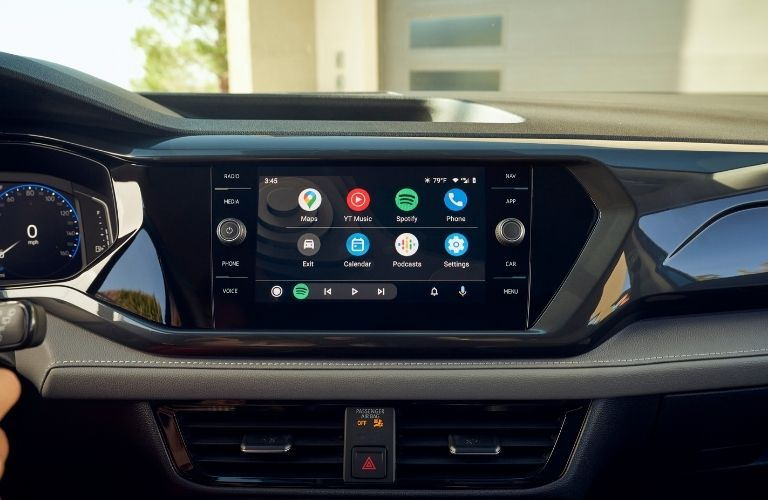 infotainment system of the 2022 VW Taos