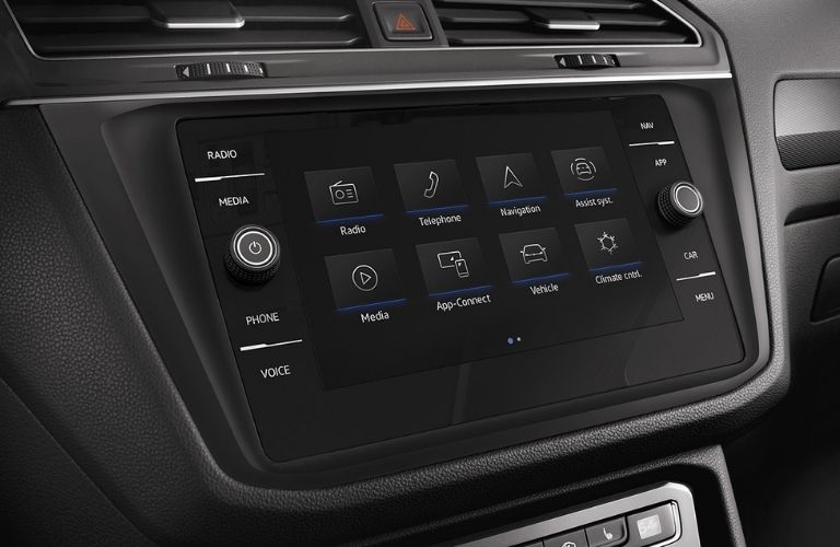 infotainment system of the 2022 VW Tiguan